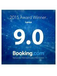 Lanna Booking.com Award Winner 2015