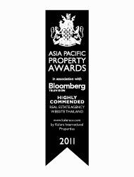 Asian Pacific Property Awards 2011 Best Real Estate Agency Website Thailand KALARA – Highly Commended