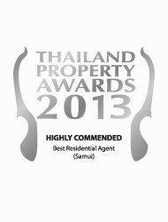 Thailand property awards 2013 best boutique developer Thailand Kalara – Winner