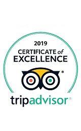 TripAdvisor Certificate of Excelence Award 2019