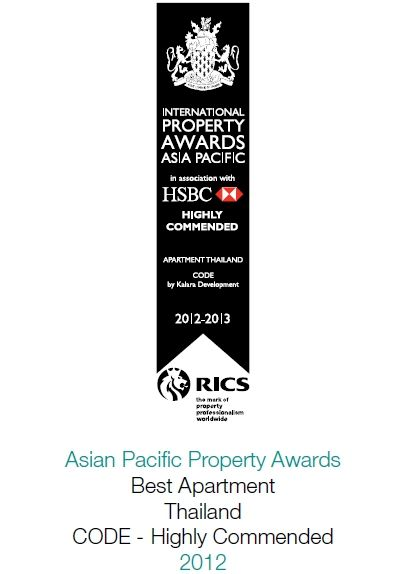 2012 South East Asian Property Awards: Best Apartment Thailand CODE