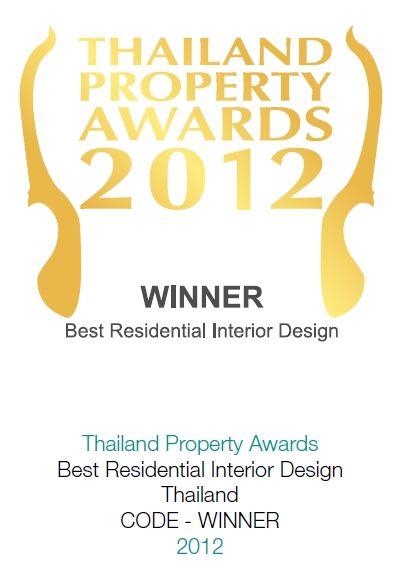 2012 Thailand Property Awards: Best Interior Design Thailand CODE