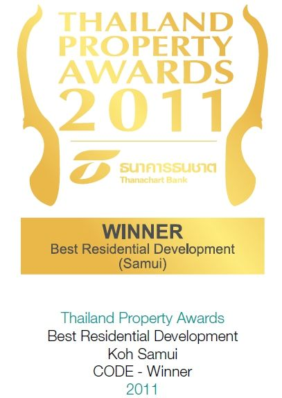2011 Thailand Property Awards: Best Residential Development Koh Samui CODE