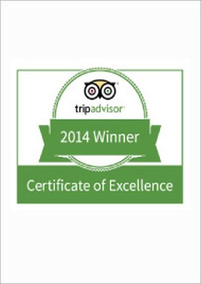 Tripadvisor Certificate of Excellence Award 2014 CODE