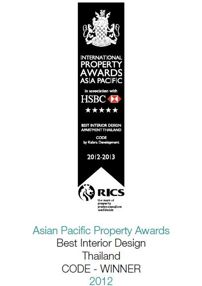 2012 South East Asian Property Awards: Best Interior Design Thailand CODE
